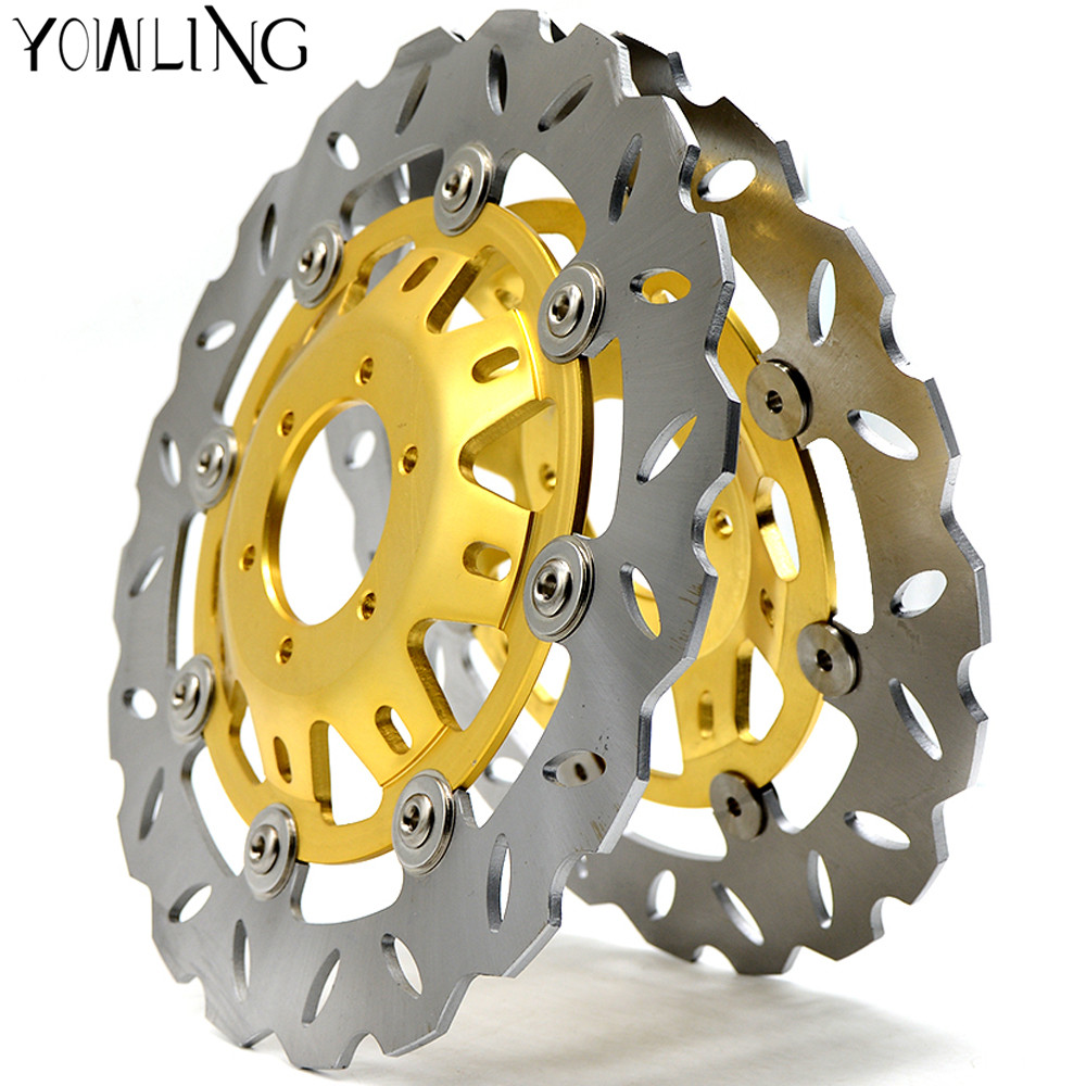 YOWLING 2 pieces Motorcycle Parts Accessories Modified flower Front Floating Brake Disc Rotor For Honda CBR250 MC22 motorcycle accessories front brake disc for honda cbr250 cbr22 nsr250 p3 p4