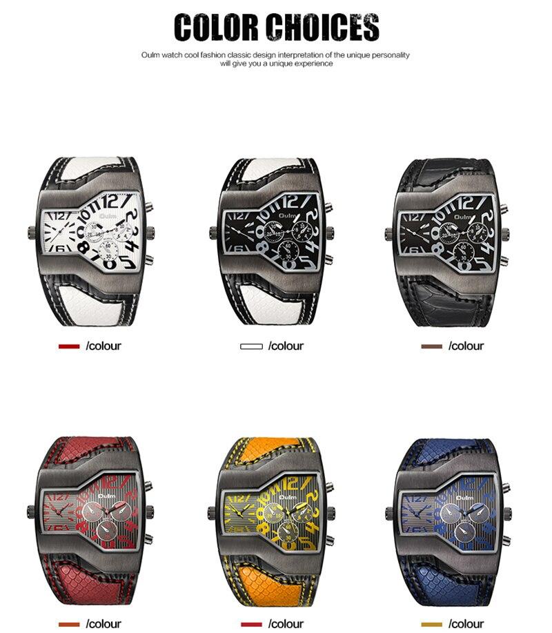 cinta grande dial relógios homens esportes ao