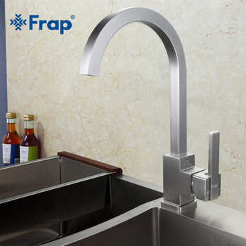 New Arrival Frap Hot and Cold Water Kitchen Faucet Space Aluminum Brushed Swivel Crane 360 degree rotation F4052-5 - DISCOUNT ITEM  45% OFF Home Improvement