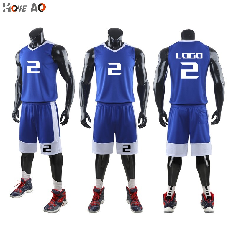 HOWE AO New Men College Basketball Set Uniforms Kits Kids Sport Homme Basketball Jerseys Suits Training Tracksuits Customized