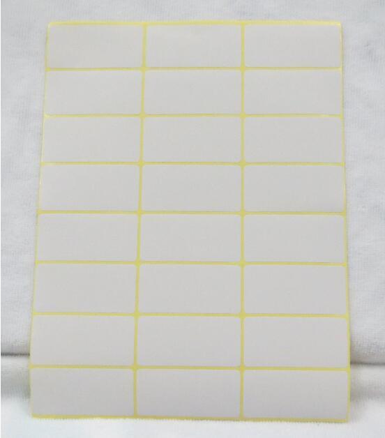 15 sheet Self Adhesive Blank price label white Stationery