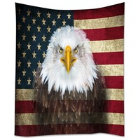HommomH Tapestry Art Decor Wall Hanging in Dorm Living Room Bedroom American Flag Eagle