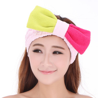 Girls Hairbands Double Super Large Two Color Bow Bath Hairband Tenfolds Cosmetic Headband Mask Toe Cap