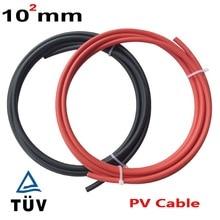 10мм2 черный красный PV солнечный кабель используется для решетки и подключения к сетке PV системы красный+ черный pv кабель 6мм2 4мм2