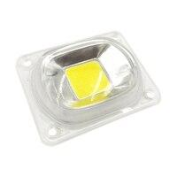 1 세트 led cob 칩 led 램프 전구 칩 led 렌즈 반사판 230 v 220 v 20 w 30 w 50 w led 홍수 빛에 대 한 diy 필요 히트 싱크