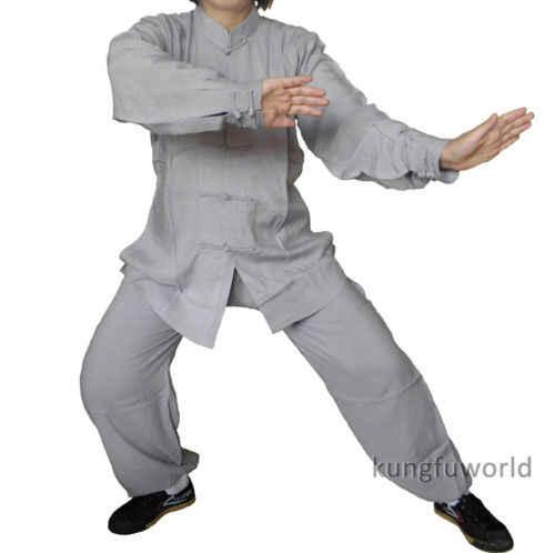 太極拳制服綿高品質子供と大人武道カンフースーツ武術太地衣類