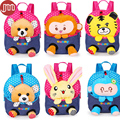 New Animal Design Baby Plush Backpack Monkey Bunny Bear Tiger Detachable Doll Infant School Bag Kindergarten Cartoon Toy Bags