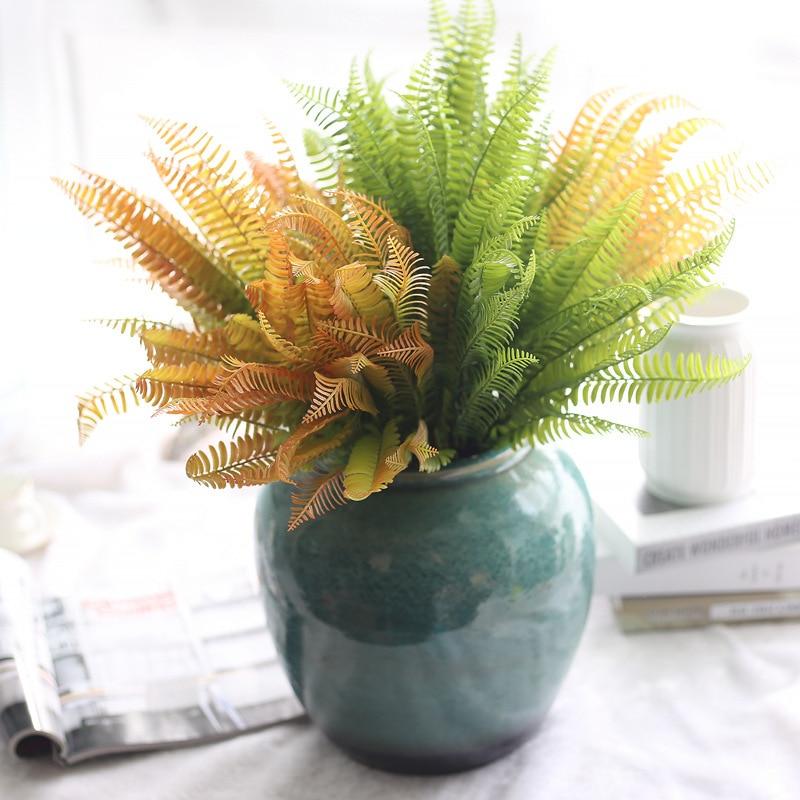 3pcs Lot Decorative Artificial Plants Fern Leaves For Home