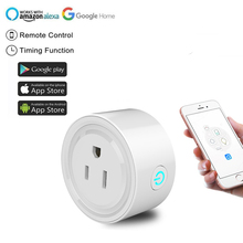 цена на eWeLink  WIFI Smart  Plug wifi wireless remote control  socket  Timing socket US Power monitoring with Amazon Echo IFTTT support