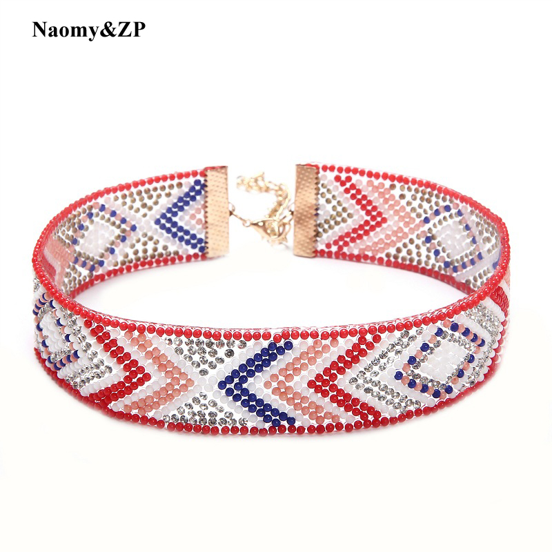 Naomy & ZP Beads Collar Choker մանյակ Գոտիկներ - Նորաձև զարդեր - Լուսանկար 1