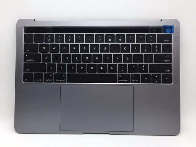 the latest 32cbe 76eaa US $304.24 5% OFF NEW Space Grey Gray Top Case w/ Keyboard+Battery+Trackpad  for Macbook Pro 13