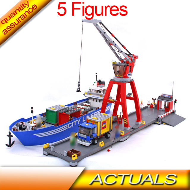 Compatible With Lego 7994 Lepin 02034 695pcs City Transport Building Blocks  City Harbor Model Bricks Ship