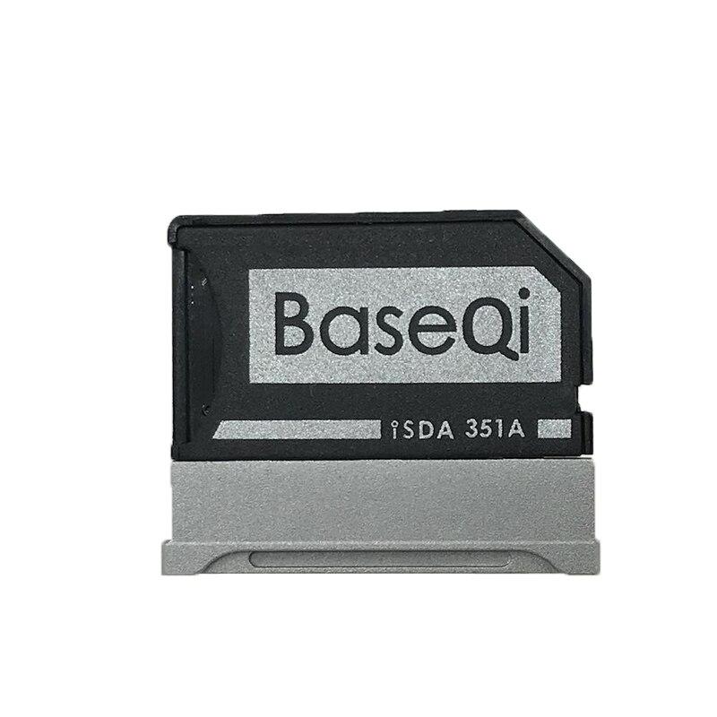 BaseQi de aluminio para superficie de Microsoft Book2 15 pulgadas MiniDrive MicroSD adaptador de tarjeta TF lector de tarjetas para SurfaceBook2 15''Model351A