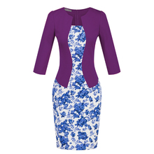 Twinset design office lady dress with belt OL bodycon