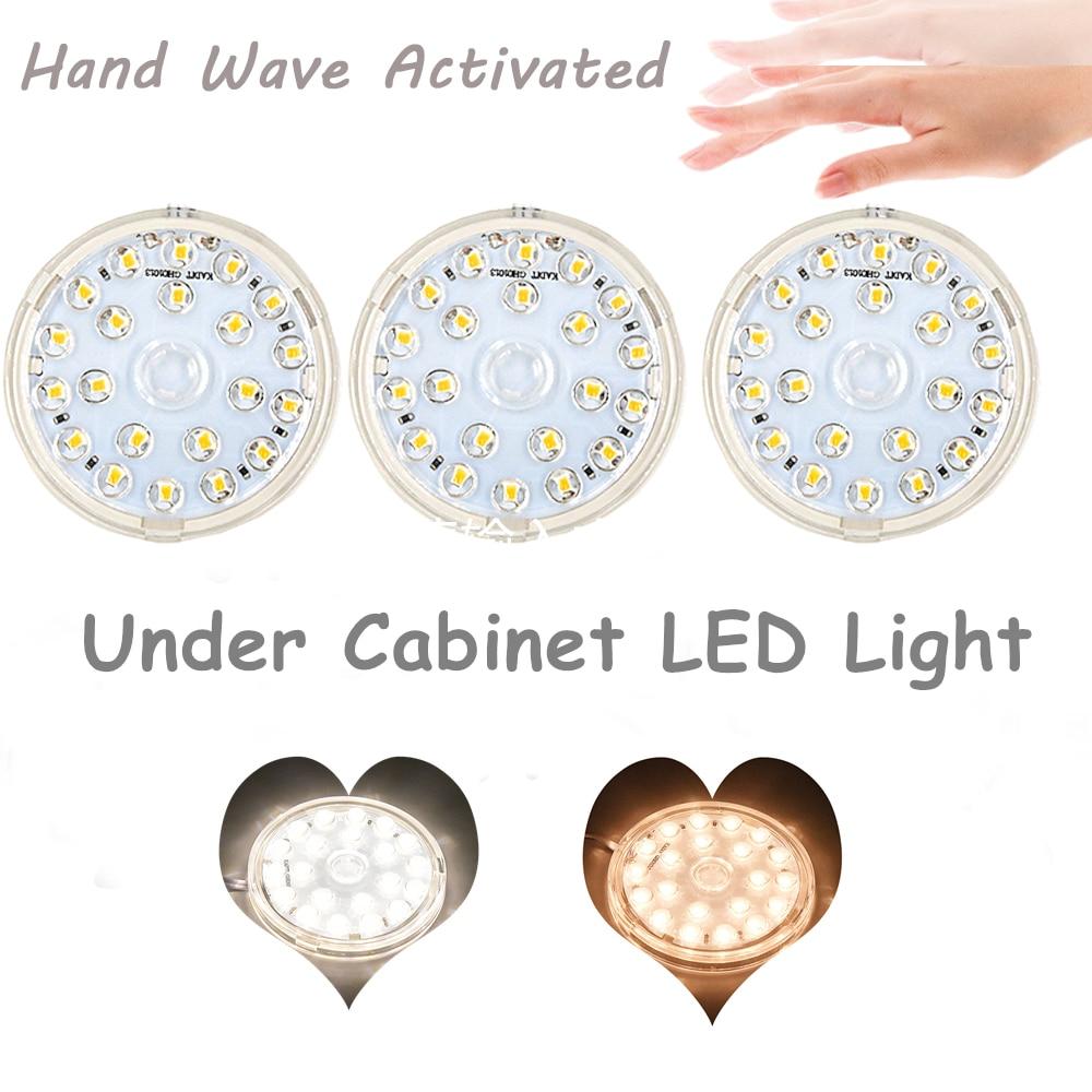 Z Wave Puck Lights: Under Cabinet Counter LED Puck Light For Kitchen