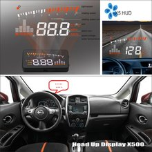 Liislee Car HUD Head Up Display For Nissan Versa Note 2013 2014 2015 - Windshield Screen Safe Driving Screen Projector liandlee for nissan x trail t32 for nissan none rogue 2013 2018 safe driving screen car hud head up display projector windshield