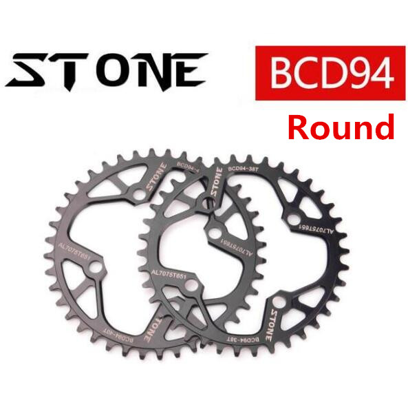 94BCD Round/Oval 32T/34T/36T/38T/40T/42T/44T/46T/48T Cycling Chainring MTB Bike Chainwheel Crown BCD 94 for NX GX X1 FSA ...
