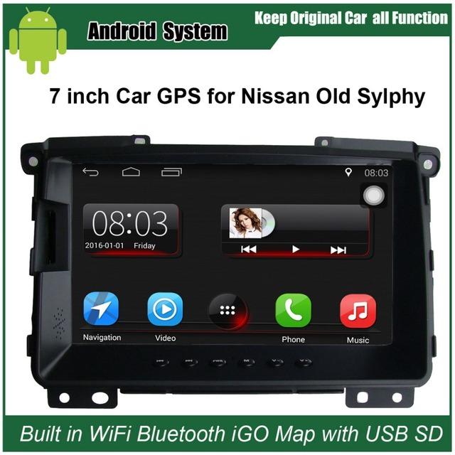 7 polegada de Navegação GPS Do Carro para Nissan Sylphy (2009 Antes) Rádio do carro Player De Vídeo Inteligente WiFi do telefone móvel Espelho-link