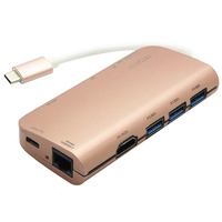 8 En 1 Combo USB 3,1 tipo C a 3 puertos USB 3,0 Hub Ethernet Rj45 + 4k HDMI + SD/lector de tarjetas Micro + Hub adaptador de carga tipo C