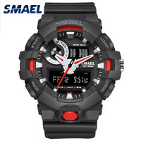 2017 New Style Black Red Men Watches SMAEL Brand Digital Display Chronograph Auto Date Male