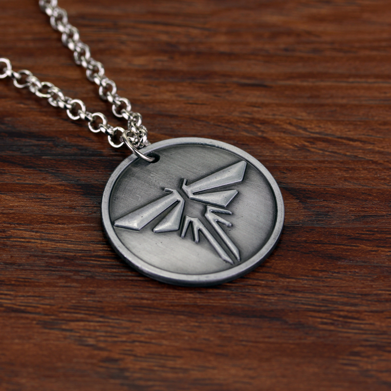 Vintage game the last of us firefly necklace metal round tag vintage game the last of us firefly necklace metal round tag necklaces pendants kolye collares in pendant necklaces from jewelry accessories on mozeypictures Gallery