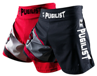 PUGILIST S/30 M/32 L/34 XL/36 muay thai shorts boxing shorts MMA combat shorts Fitness boxing Trunks black/red