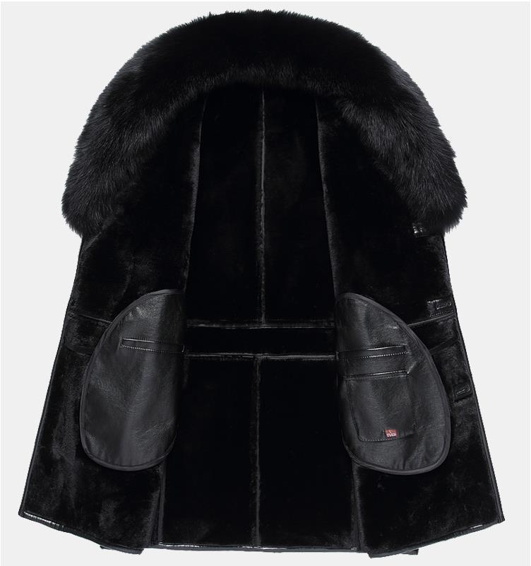 HTB1ITyTahrvK1RjSszeq6yObFXaz BATMO 2019 new arrival winter high quality real leather fox fur collars trench coat men ,men's winter Wool Liner parkas AL18
