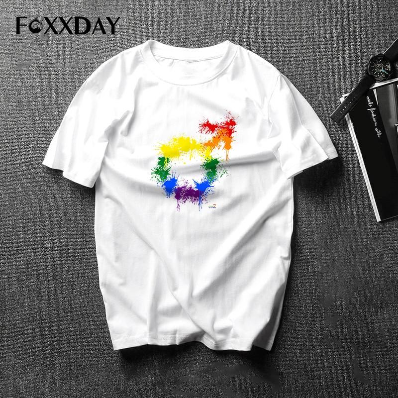 Pride Lgbt Gay Love Lesbian Rainbow Cotton T Shirts 2019 Summer Workout Love Wins T-shirts Boyfriend Gift New arrival unisex