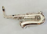Newest Yanagisawa Japan Alto Saxophone Eb Sax W037 Silver Plated Brass Instruments Music Professional Saxofone Free shipping