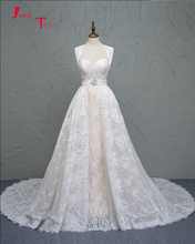 Jark Tozr Vestido De Noiva Sereia Light Champagne Satin Appliques Lace Removable Train Mermaid Wedding Dress China Online Shop