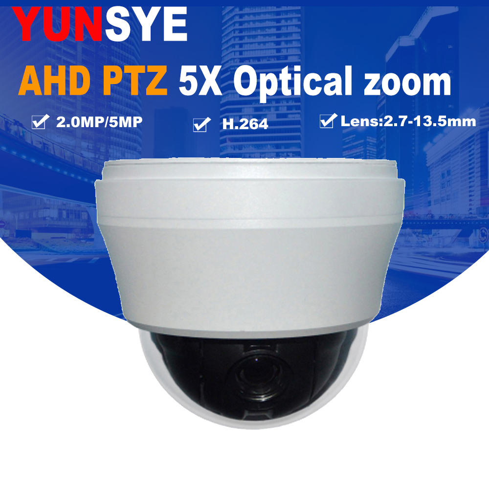 2018 New AHD/TVI/CVI Camera HD 1080P AHD 4X 10X Pan Tilt Zoom 2.7-13.5mm Autofocus Varifocal 2.0MP/5MP PTZ Camera YUNSYE hd 1080p pan