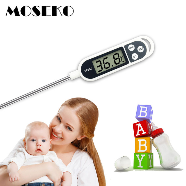 MOSEKO Digital Food Thermometer Kitchen Oven BBQ Cooking Meat Milk Water Measure Probe Tool Barbecue Kitchen Thermometer TP300