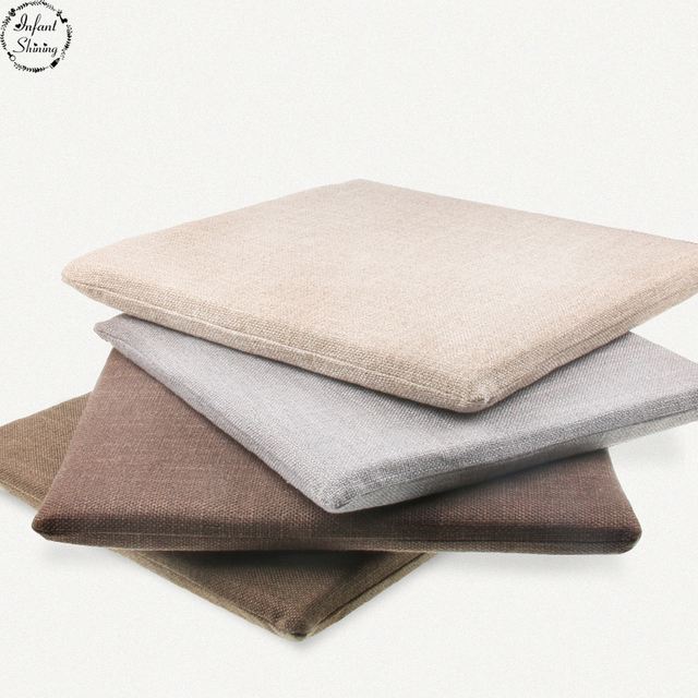 Infant Shining Seat Cushions 4CM Thick Linen Chair Mat Cotton Tatami Pad  Room Living Room Bedroom