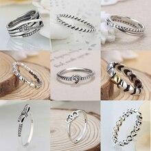 Сердечко из серебра цвет Свадебный перстень с прозрачным CZ бренд кольцо для женщин обручальные серьги-гвоздики