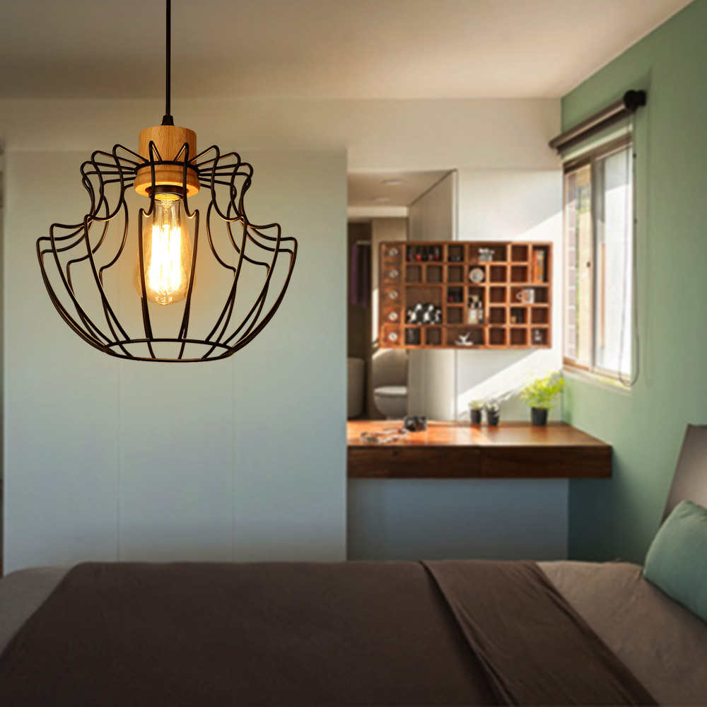Loft Vintage Industrial Lighting Retro Iron Pendant Lights Restaurant Bedroom Living Room American Lamp Hanging Light Fixture  free shipping ems pendant light vintage lighting iron lamp american rustic lamp living room lights pendan