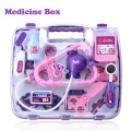 Doctor Educational Toys For Kids Plastic Medical Box Purple Blue Baby Toys For Children Doc Mcstuffins Girl Birthday Gift 145016