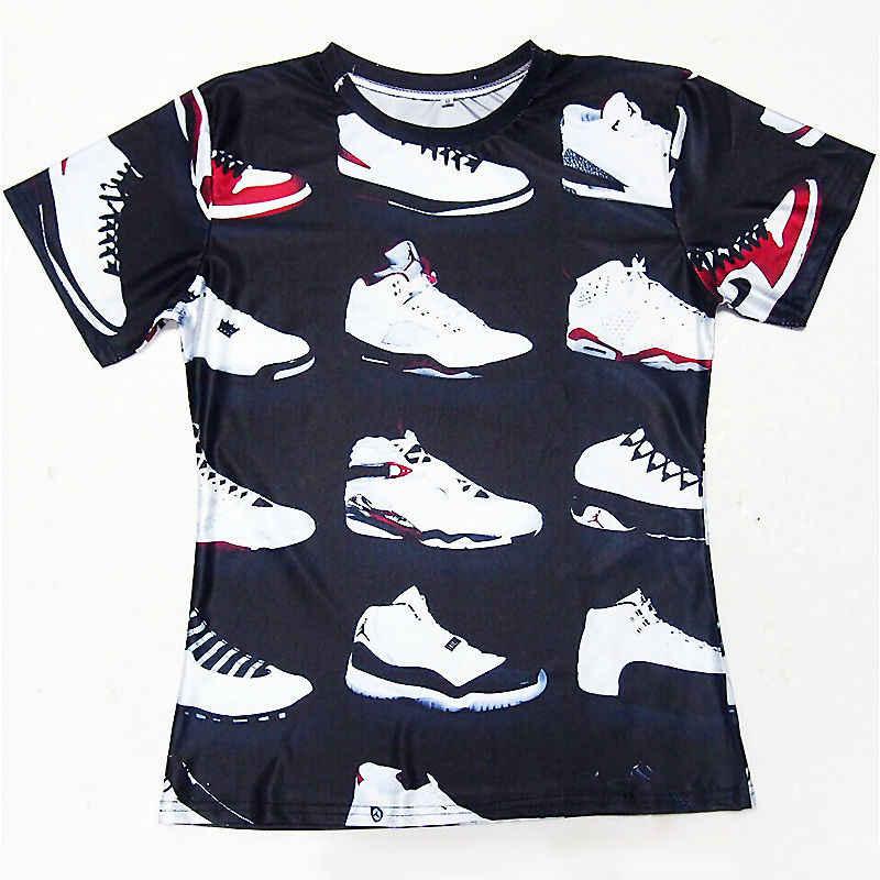 87a998c94d9 JORDAN 23 Classic Shoes 3D Printed T-shirts Hip Hop Funny Men's T ...