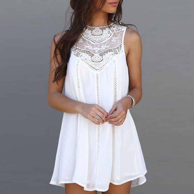 d31c166879b Detail Feedback Questions about Maternity Dress For Women Summer Dress  Casual Loose Charming Sleeveless Lace Dress O Neck Mini Dresses Sundress  White on ...