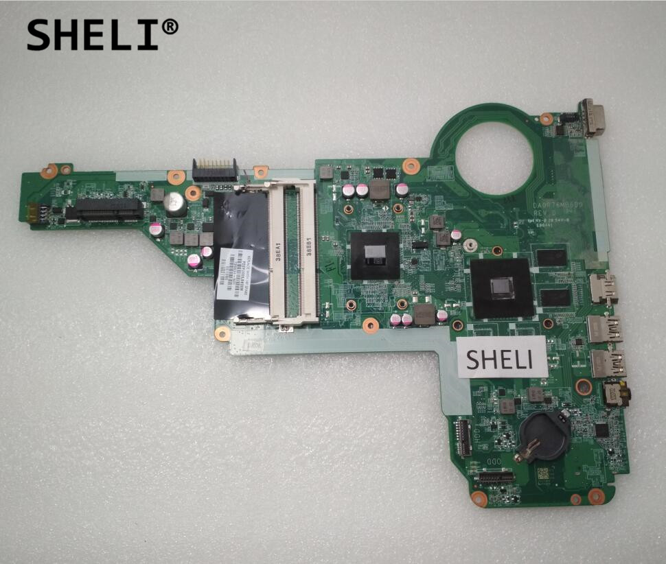 SHELI For HP 15-E 17Z-E000 17-E 17Z Motherboard with A6-5200M cpu DA0R76MB6D0 726634-001 726634-501 731534 001 731534 501 for hp pavilion 17z e100 17z laptop motherboard a4 5000 cpu onboard ddr3 da0r76mb6d0 warranty 60 days