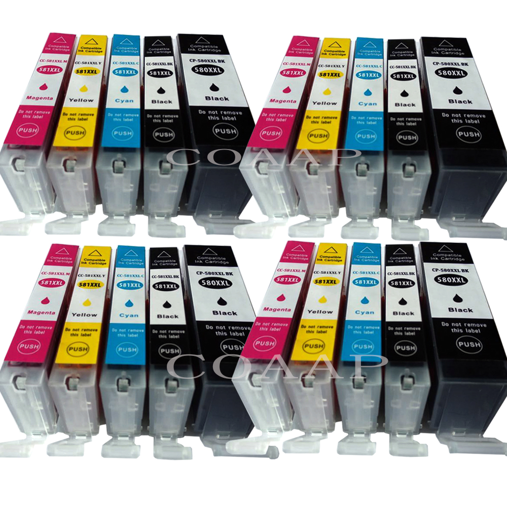 Compatible Ink Cartridges For PGI580 CLI581 For Canon Pixma TR7550 TR8550 TS6150 TS8150 TS9150 TS9155 5pk pgi580 cli581 compatible ink cartridge for canon 580 581 suit for tr7550 tr8550 ts6150 ts6151 ts8150 ts9155 printer