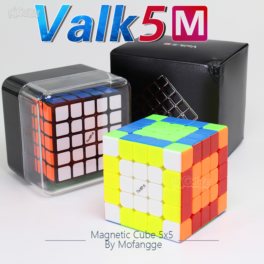 Valk5M Valk5 M 5x5x5 Cube de vitesse magnétique 5x5 Valk5 Cubo Magico WCA Cubes de compétition jouet Puzzle MoFangGe QiYi par aimants