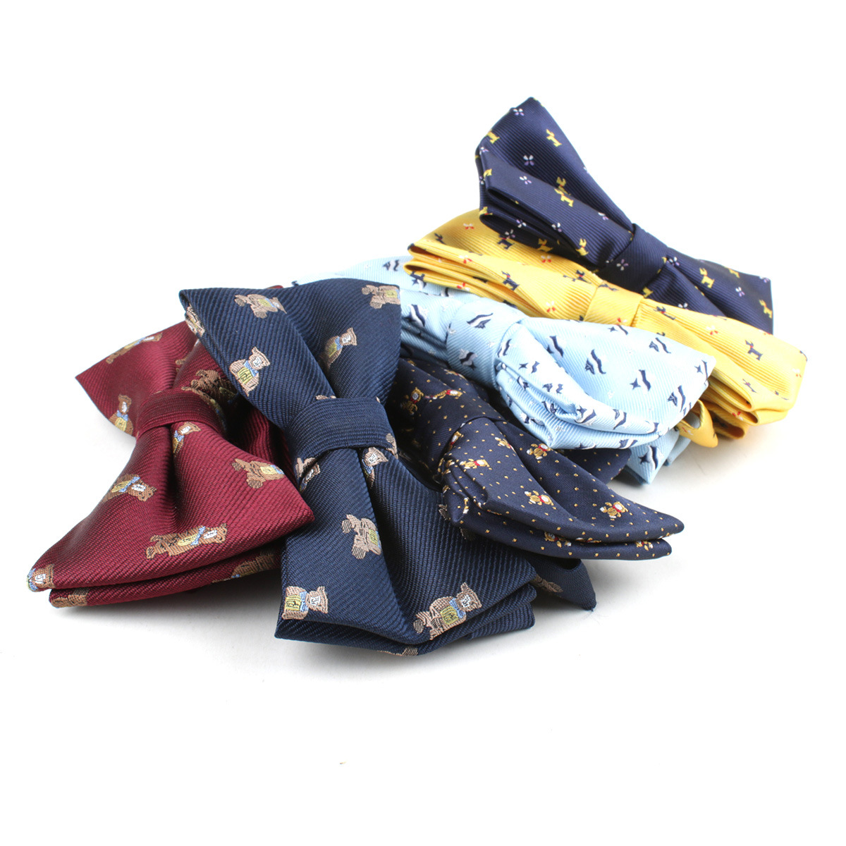 Children Man Fashion Polyester Bow Tie Kid Classical Bowties Fish Bear Car Fish Aircraft Bicycle Butterfly Party Pet Bowtie Ties
