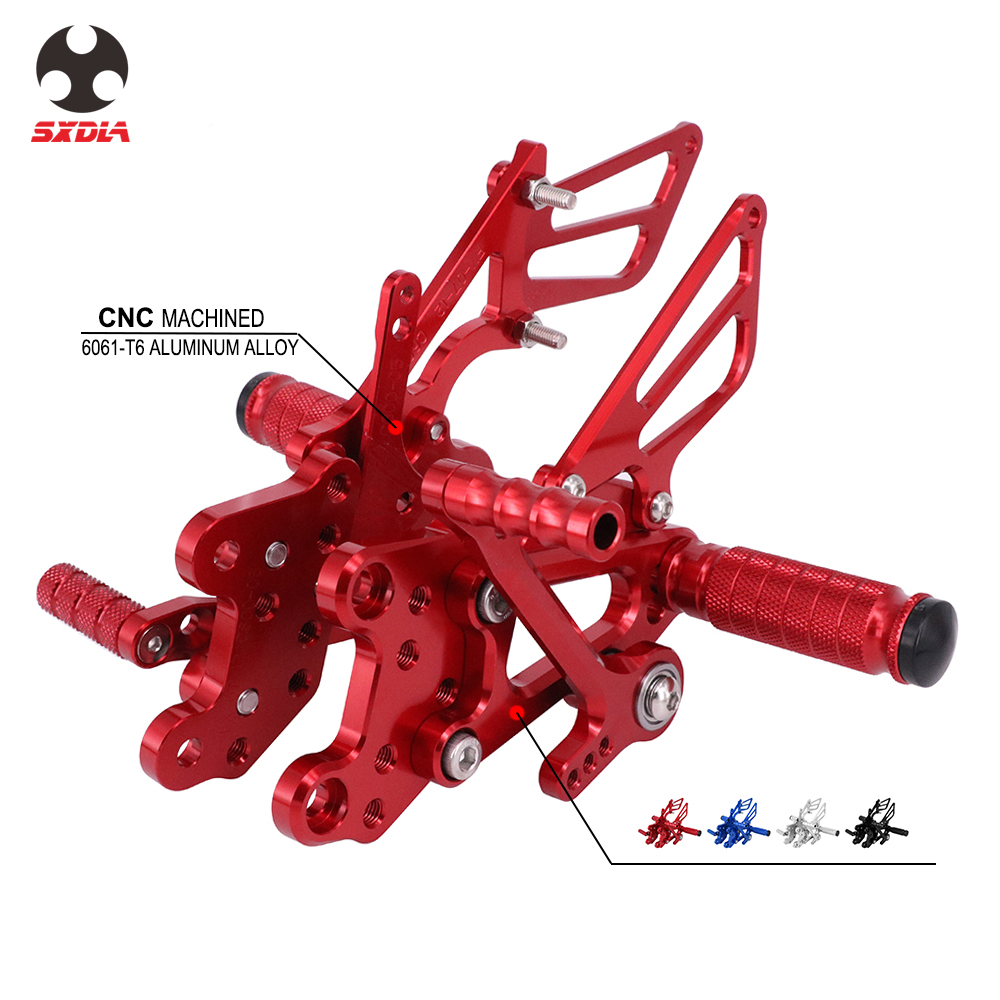 Motorcycle CNC Adjustable Foot Pegs Rear Set Footpegs Footrests For HONDA CBR1000RR CBR1000 RR 2004-2007 CBR600RR 2003-2006