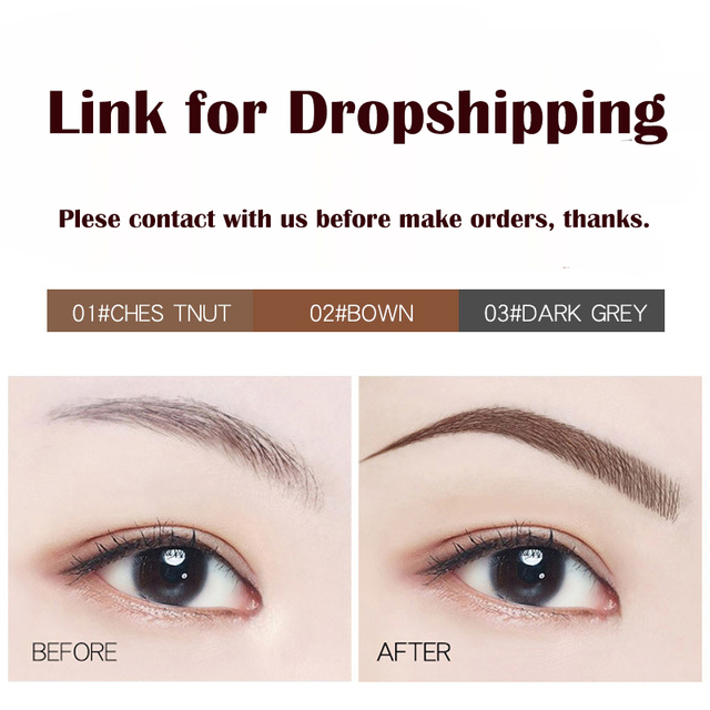 Microblading Eyebrow Tattoo Pen Fine Sketch Liquid Eyebrow Pen Waterproof Tattoo Eye Brow Pencil Smudge-proof Dropshipping 1