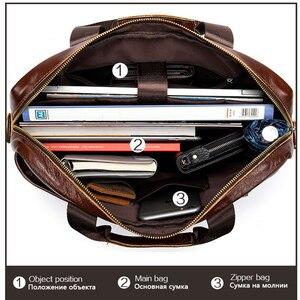 Image 5 - WESTAL erkek evrak çantası erkek çanta hakiki laptop çantası deri erkek ofis çantaları erkekler için deri evrak çantası belge A4 8523