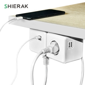 Image 5 - SHIERAK חכם בית כוח קוביית שקע האיחוד האירופי Plug 4 חנויות 2 USB יציאות מפצל מתאם הארכת מתאם רב להעביר שקעי