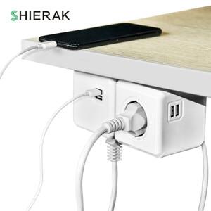 Image 5 - SHIERAK Smart Home Power Cube Socket EU Plug 4 Outlets 2 Usb poorten Adapter Power Strip Extension Adapter Multi Geschakeld sockets
