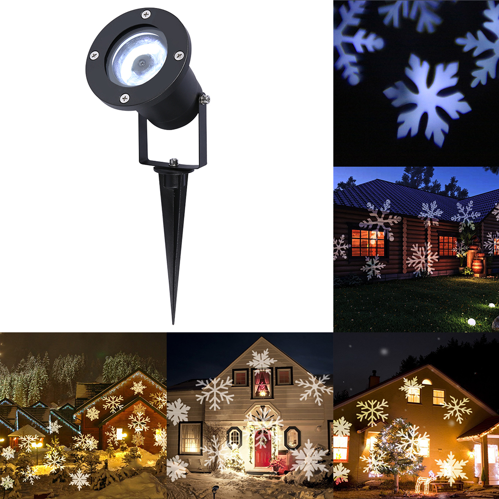 White Snowflake LED Stage Lights Waterproof Projector Lamps Outdoor Indoor Decor Spotlights for Christmas Party Holiday Lights white snowflake led stage lights waterproof projector lamps outdoor indoor decor spotlights for christmas party holiday lights