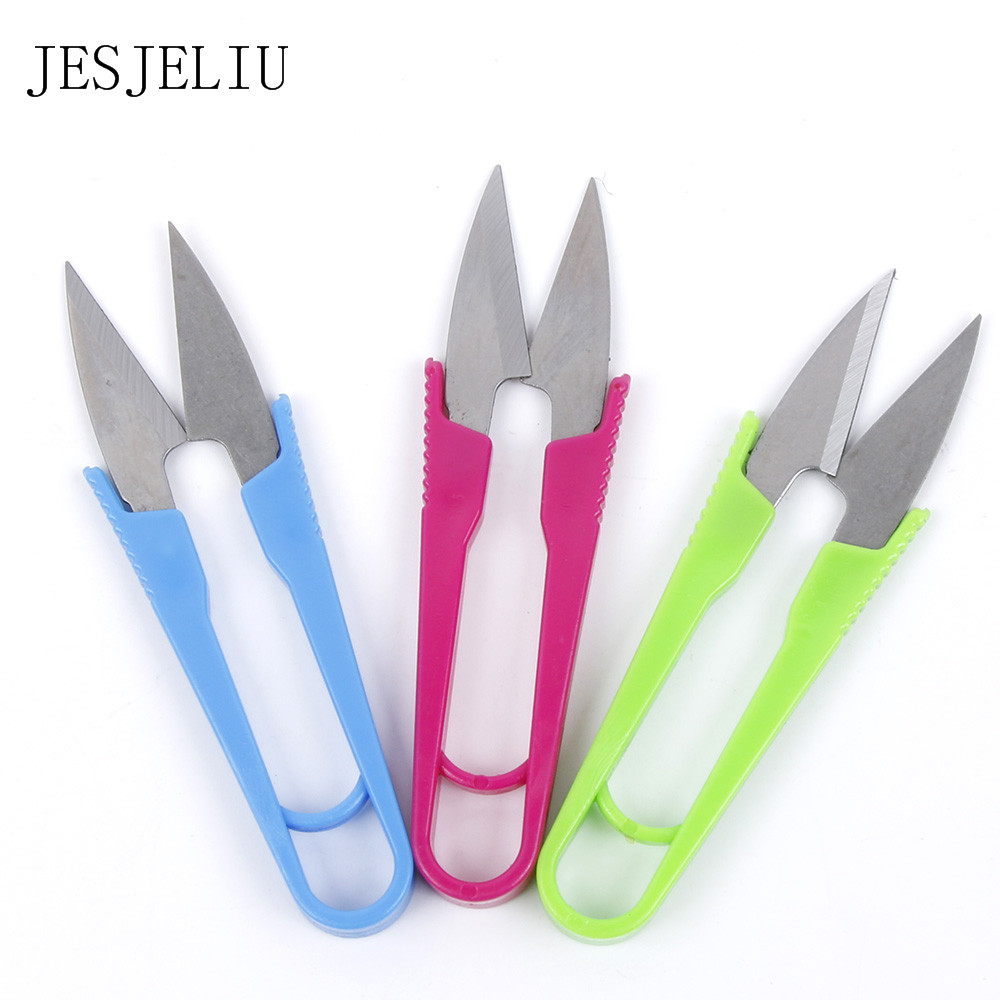 1PC Sewing Nippers Snips Beading Thread Snippers Trimming Scissors Tools U Shape Clippers School Office Cutting Supplies