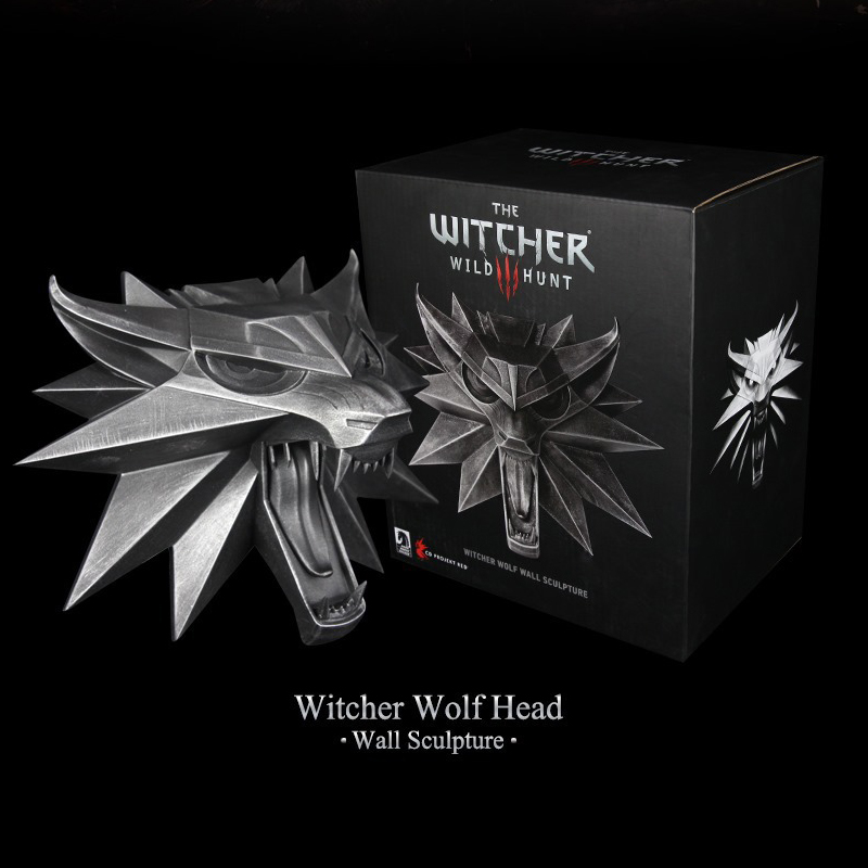 Game The Witcher 3 Wild Hunt Wolf Head Wall Sculpture Resin Statue Collection Figure Toys потолочная люстра freya fr5102 cl 04 ch